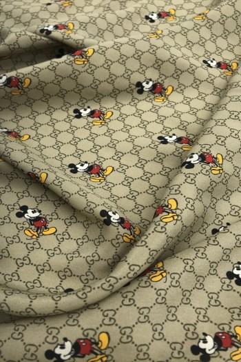 Крепдешин с принтом Mickey Mouse