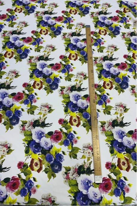 Костюмная ткань с цветочным принтом Salvatore Ferragamo