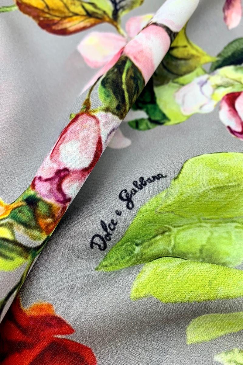 Подписной крепдешин Dolce&Gabbana