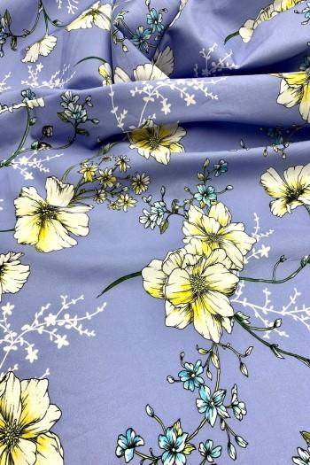 Рубашечный хлопок с цветочным принтом