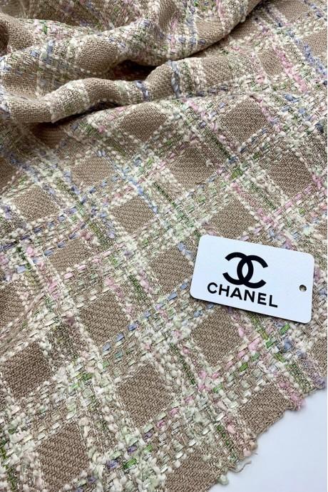 Твидовая костюмная ткань Chanel