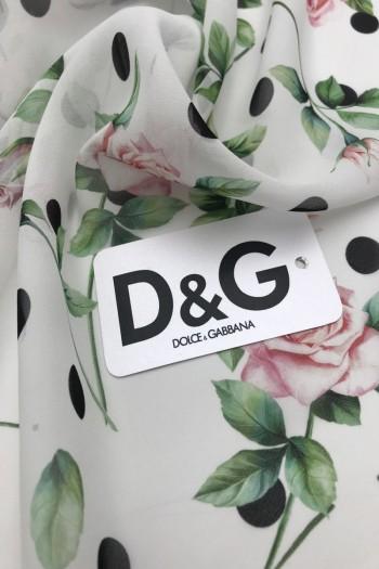 Шелковый шифон D&G
