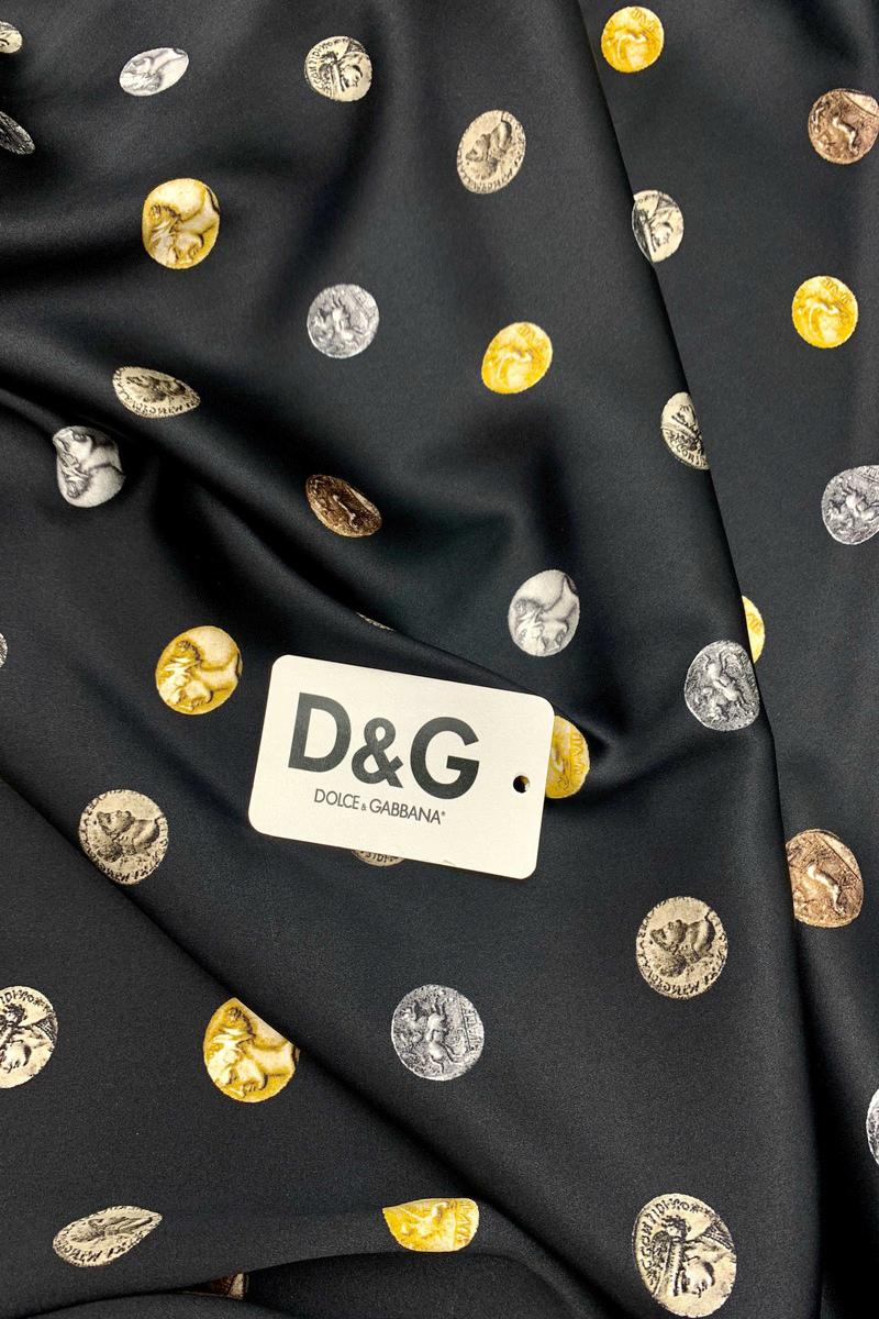 Атласный шелк Dolce&Gabbana