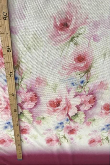 Пальтовая ткань купон цветы